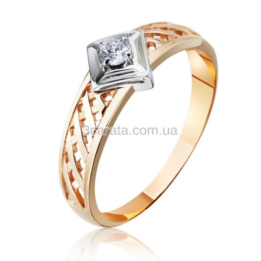 Золоте кільце з діамантом на заручини «Ключ від серця» 1e4546a528706