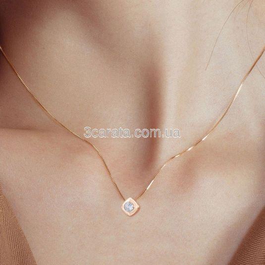 Золотий кулон з діамантом 0,27 Ct «Paradise droplet»