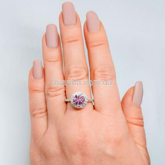 Золотий великий перстень з олександритом «Insta Queen»