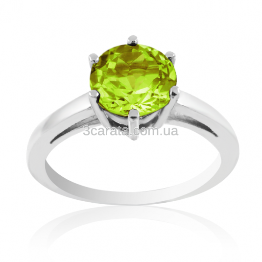 Перстень золотий з хризолітом «VIVA»