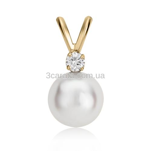 Золотий кулон з перлами і діамантами «Baldovino»