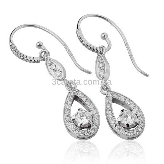 Золоті ексклюзивні сережки з діамантами 0.5 карат «Camellia»