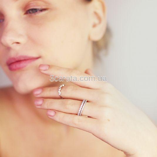 Золота обручка з доріжкою діамантів «Universe»