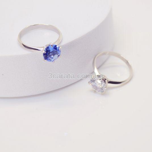 Золота каблучка для заручин з білим топазом «My Tiffany»