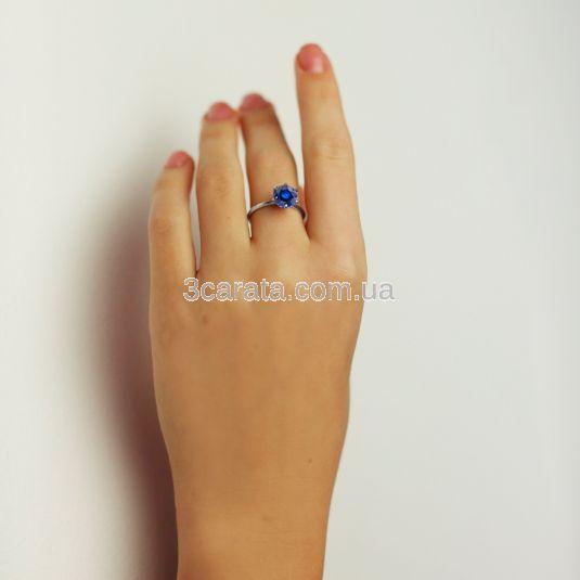 Золота каблучка для заручин з сапфіромом «My Tiffany»