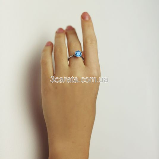 Золота каблучка для заручин з великим топазом «My Tiffany»