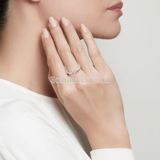 Обручка з трьома діамантами «Mindy»