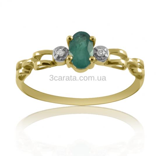 Золоте кільце з смарагдом і діамантами «Віта» d909d9a27d299