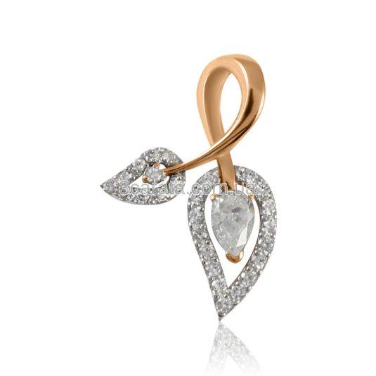 Золотий кулон з фіанітами «Еліксир кохання»