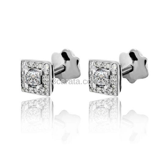 Золоті сережки з діамантами «Pret-а-порте»