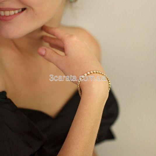 Золотий браслет з цирконієм «Dari»