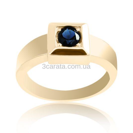Чоловічий перстень з сапфіром