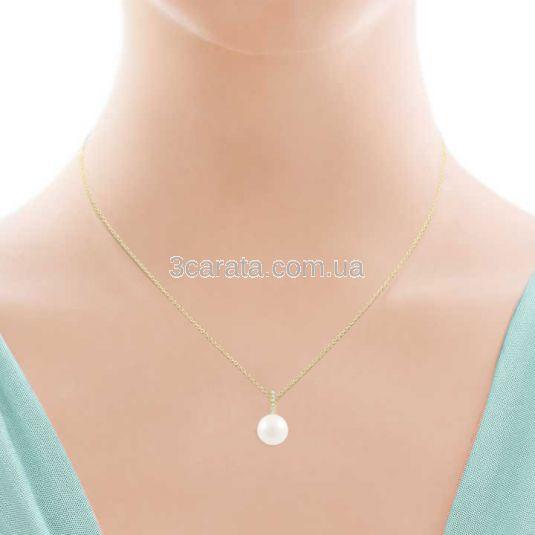 """Золоте кольє з морськими перлами і діамантами """"Vive Coco»"""