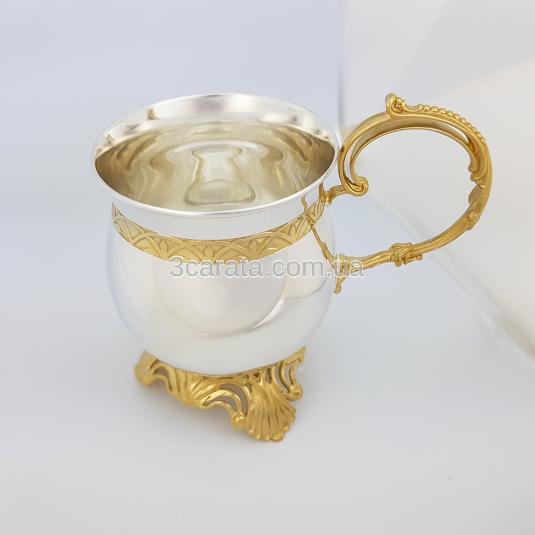 Чашка срібна «Чайно-кавова»
