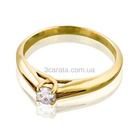 Жіноче золоте колечко з  діамантом 0,17 Ct «Весняний каприз»