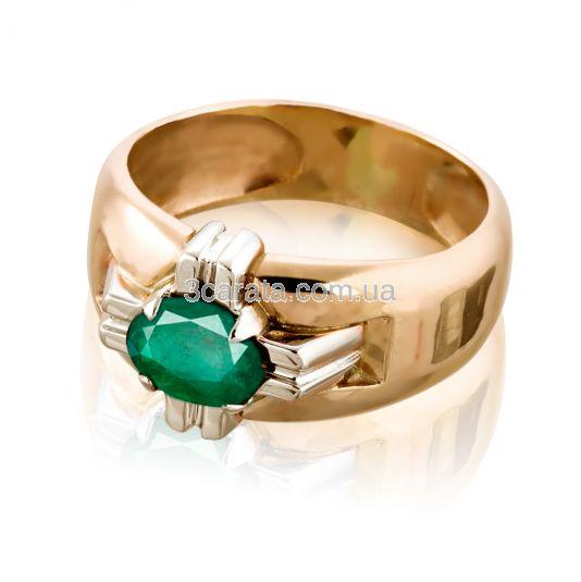 """Золотий перстень з смарагдом """"Лицарський орден»"""