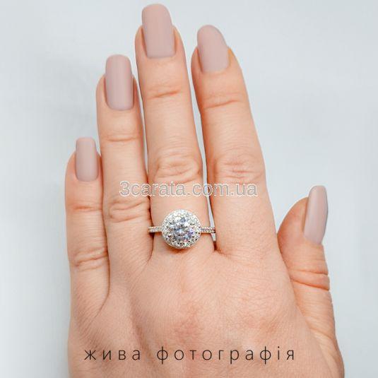 Золотий великий перстень з каменями Сваровські «Insta Queen»