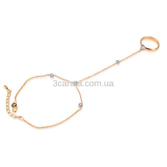 Золотий жіночий браслет слейв «Jasmina» з діамантами