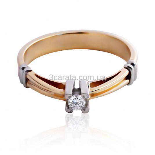 Обручка на заручини з діамантом «Аделия» c6a0af9f6da92