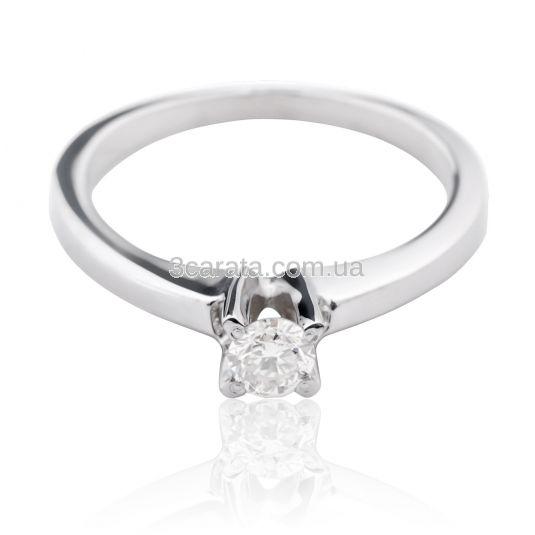 Золота каблучка з діамантом 0.15 Ct «Райське» 0be319f61a288