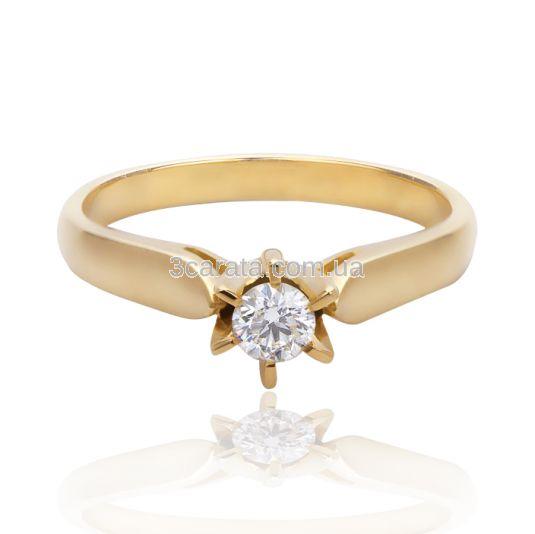 Класичне кільце на заручини з діамантом 0.22 сt «Milia» 62672c3caeb96