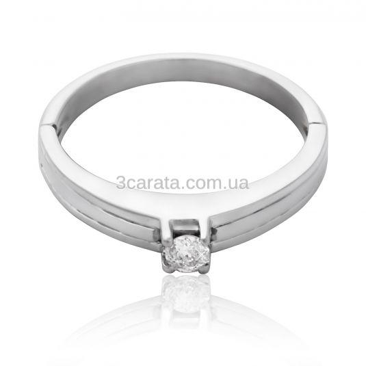 Золота каблучка на заручини з діамантом 0.11 сt «Iонія» 0a28fb698abdd