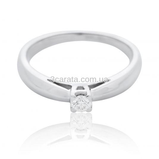 Золота каблучка з діамантом 0.13 сt «Love sign» d07ad32f83fcc
