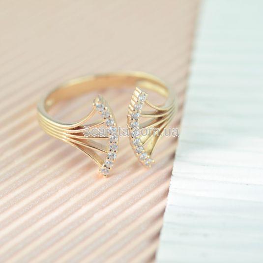 Незімкнута золота каблучка з діамантами «Venera»