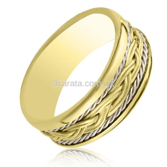 Золота весільна обручка з орнаментом «Ідеальна пара» 5c7b759a4a98d