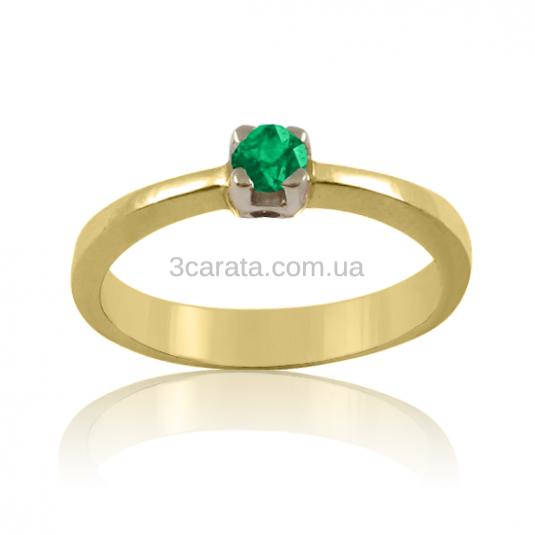 Золоте кільце зі смарагдом «Смарагдова радість» 25e1691f433cf