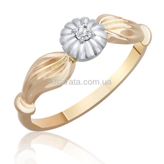 Золота каблучка з діамантом на заручини «Маркіза любові» b958290b50942