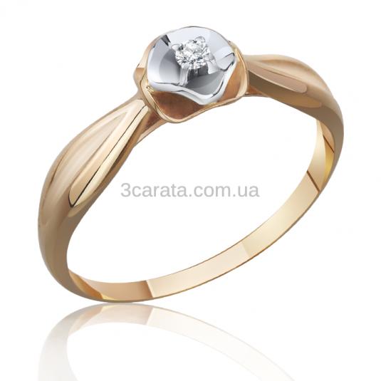 Золоте кільце з діамантом «Досконалість» 3eb2dc151eb6d