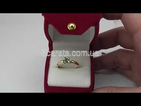 Золота каблучка з смарагдом «Alonsa» 8c681be308422