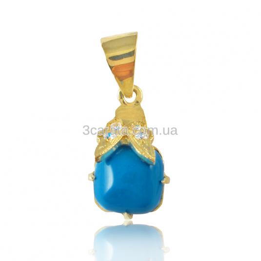 Золотий кулон з бірюзою «Ванесса»