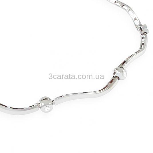 Золотий жіночий браслет з діамантами «Fashion look»