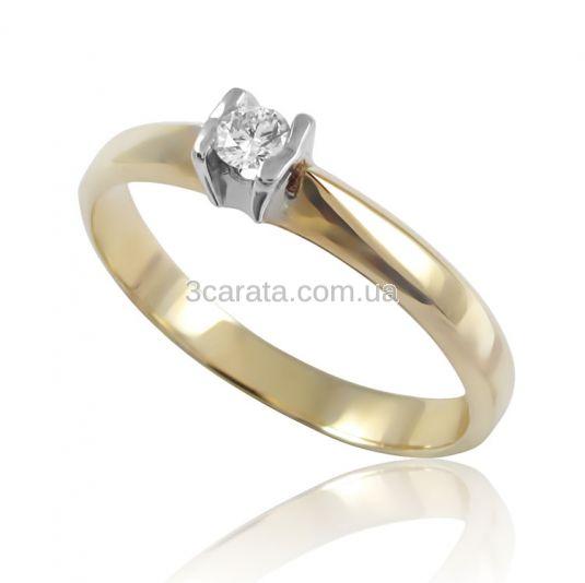 Золоте кільце з діамантом «Заморська принцеса» 527611959bfda