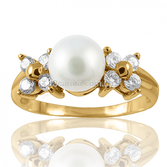 Золоте кільце з перлиною «Виринея»