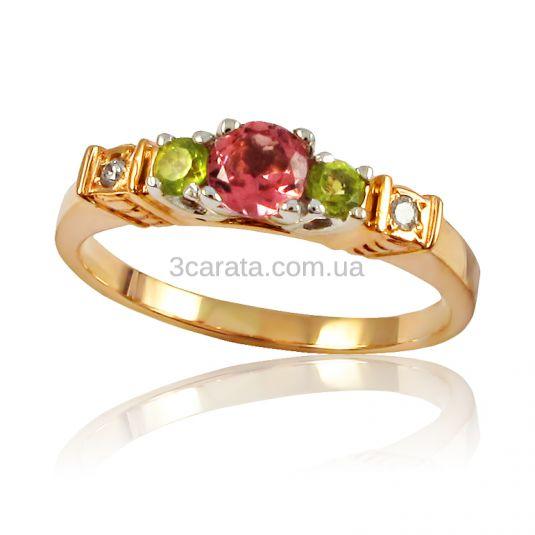 Золота каблучка з дорогоцінним камінням «Silence» 4c3592b14406d