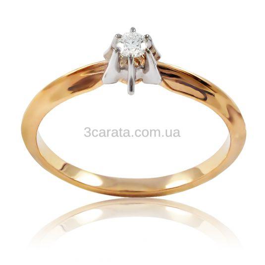 Золота каблучка для заручин з діамантом 0 b6a029b626195