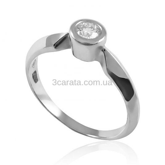 Золоте кільце з діамантом «Зоряний пил» 292af5214e4ff