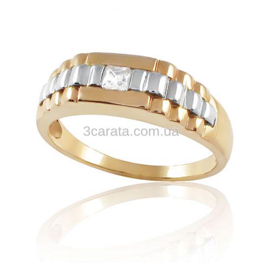 Золотой перстень с куб.цирконием