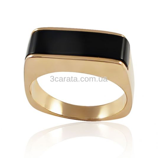 Золотой перстень с черным камнем