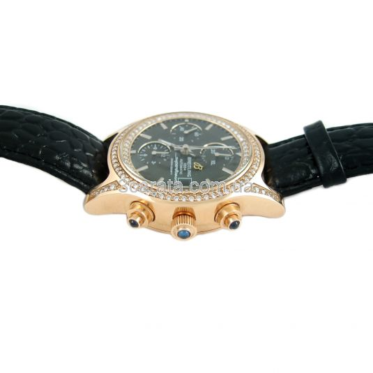 Золотий годинник-хронограф з діамантами «Askold»
