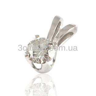 Золотий кулон з діамантом «Ангел»