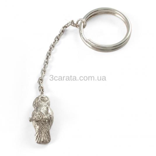 Срібний брелок «Сова»