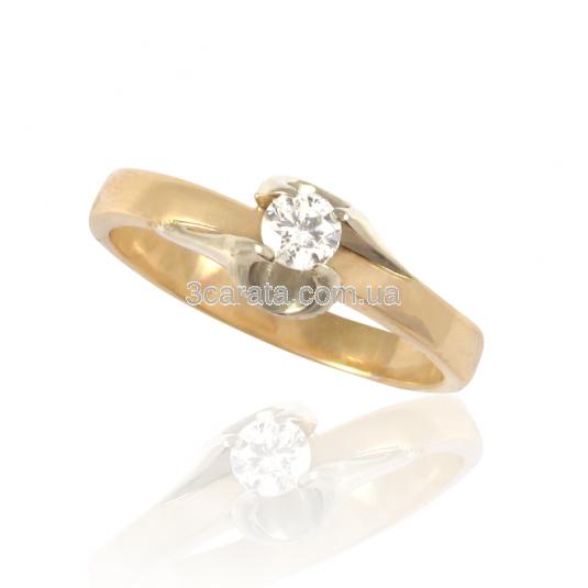 Золота каблучка з діамантом 0.1 ct «Rita» 0ca010d9f7a27