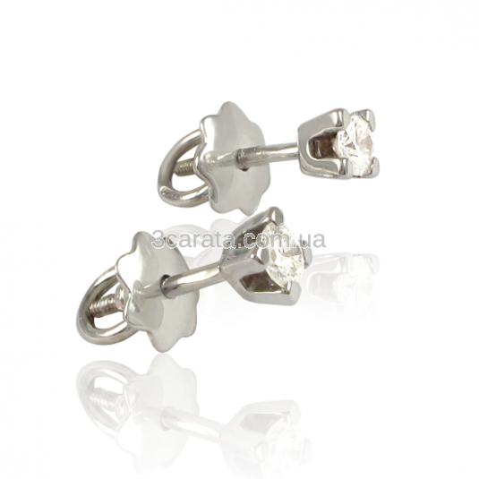 Золоті сережки-пуссети з діамантами 0.2 карата «Марія» f13711d84c32d