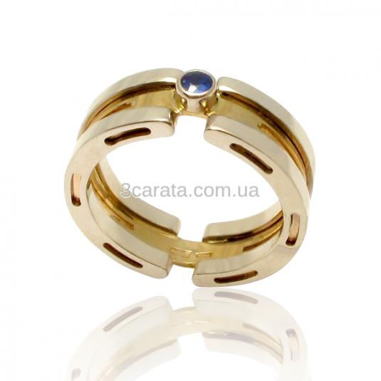 Золотий перстень «Wave»
