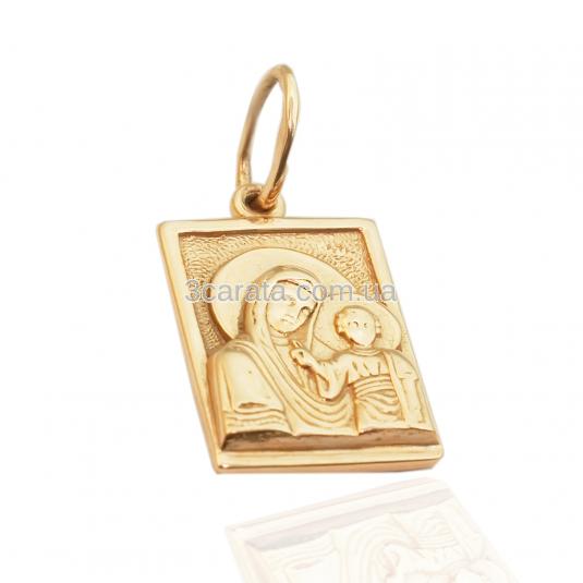 Золотий кулон-ладанка «Пресвята Богородиця»