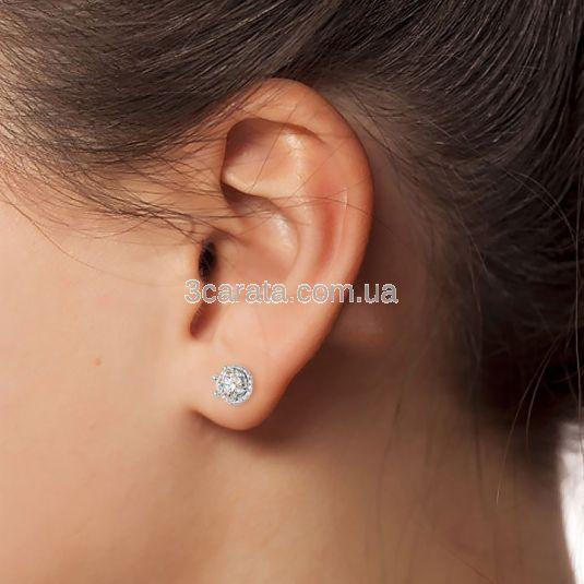 Ексклюзивні сережки з цирконієм «Секрет королеви»